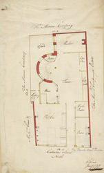 Plan of Paul's Head Tavern, Cateaton Street